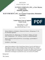 Vesper Construction Company, Inc., a New Mexico Corporation v. Rain for Rent, Inc., an Arizona Corporation, 602 F.2d 238, 10th Cir. (1979)