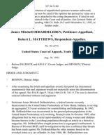 James Mitchell Debardeleben v. Robert L. Matthews, 2 F.3d 1160, 10th Cir. (1993)