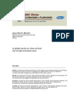 Barbero, Jesús Martín. La globalización en clave cultural.pdf