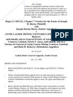 Roger G. Segal, Chapter 7 Trustee for the Estate of Joseph H. Burns, and Joseph Harlan Burns, Debtor-Appellant v. Annie Laurie Mining Ventures Limited Russell L. Reiserer, Individually and as General Partner of Annie Laurie Mining Ventures, Limited Edwin F. Jones, Individually and as a Partner in General of Annie Laurie Mining Ventures, Limited and Ruth H. Reiserer, 45 F.3d 440, 10th Cir. (1994)