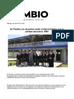 02-07-2016 Diario Matutino Cambio - En Puebla, Los Docentes Están Comprometidos Con La Calidad Educativa; RMV