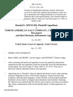 Donald E. Spencer v. North American Salt Company, Chuck Nichols, Joel Davenport and Burl Dockum, 106 F.3d 414, 10th Cir. (1997)