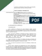 DS 088-2001-PCM - Tarifario de Servicios a Terceros