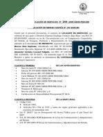 CONTRATO U ORDEN DE COMPRA O DE SERVICIO MENOR CUANTIA