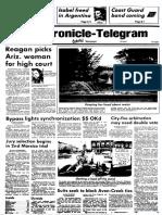 Reagan nominates O'Connor