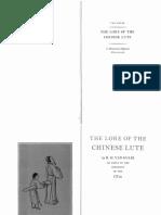 Lore of Chinese Lute, By R.H. Van Gulik