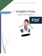 Examen Final Quinto Grado
