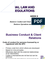 Business Conduct and Client Relations