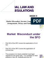 Market Misconduct, Investor Compensation Arrangements, Privacy and Further Codes