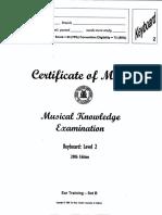 Musical Examination 2006