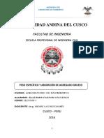 Bladimir Farfan Valvede - Gravedad Especifica y Absorcion AG