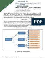 OPTIMUM PMU PLACEMENT TECHNIQUES - A COMPARATIVE STUDY