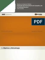 Informe Financiamiento Campañas y Publicidad Electoral