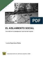 El Aislamiento Social. Una traba en la readaptación social de las mujeres