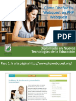 Cómo Diseñar Tu Webquest en PHP Webquest