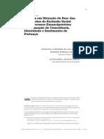 PSR Das Trajetórias de Exclusão Social Aos Processos Emancipatórios