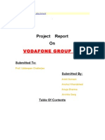 Project Report on Vodafone