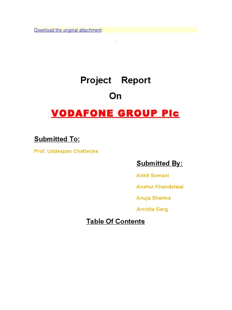 vodafone project report Direct reports none dotted reports international matrix teams typically between 20 project manager vodafone bucharest, ro posted 61 days ago sponsored project.