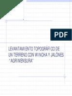 Levantamiento topográfico con Jalones