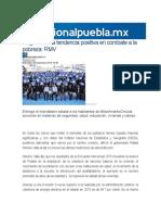 09-12-2015 Regional Puebla - Inegi Confirma Tendencia Positiva en Combate a La Pobreza; RMV