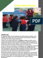 Corrientes Educativas y pedagógicas en el Perú