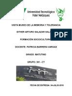 Visita Museo de La Memoria y Tolerancia