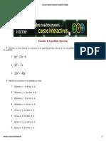 (Ejercicios y Problemas r...Ecuación de La Parábola)