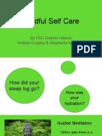 mindful self care presentation