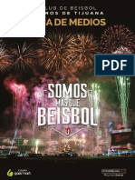 Guía de Medios 2016 - Club de Beisbol Toros de Tijuana