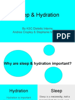 sleep and hydration presentation