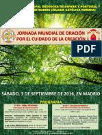 Jornada Mundial de Oración por el Cuidado de la Creación en Madrid