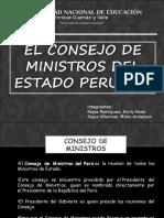 el consejo de ministros del estado peruano