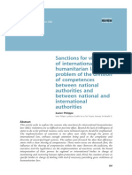 Sanctions for Violations of International