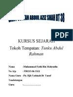 KURSUS SEJARAH