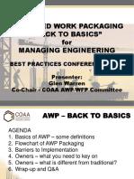 Engineering Work Packages