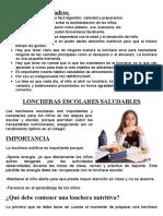 LONCHERA SALUDABLE 2016