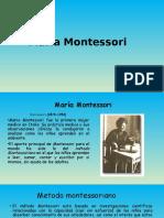 María Montessori Diapositivas