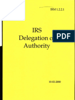IRS Delegation of Authority, Form #09.038