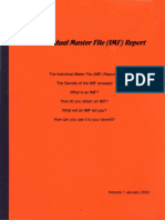 The Individual Master File (IMF) Report, Form #09.056