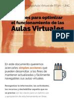 Tips Para Mejorar El Funcionamiento de Las Aulas Virtuales