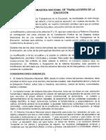 Documento CNTE Reforma Educativa
