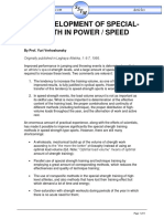 Development of Special Strength in Speed Power Events