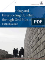 Documenting and Interpreting Conflict Th
