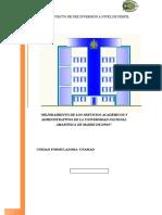 Proyecto Restructuración de Sede Adm Inistrativa - Final