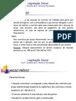 Aulas_Leg_Social_- Aviso P. e Férias