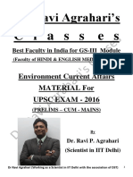Environment Current Affairs Material (CSE-2016) by Dr. Ravi Agrahari's Classes