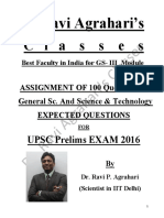 Science and Tech Practice Paper (GS-III Module) by Dr. Ravi Agrahari's Classes (1)