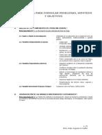 Metodología Para Formular Problemas, Hipótesis y Objetivos
