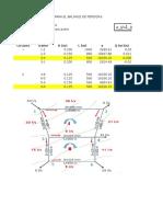 Metodo de Hardy Cross Conductos Cerrados, Plantilla