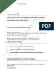 Supervision Management Notes